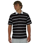 Droc Midnight Black and White Polo Shirt