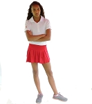 Sephlin - Lady E Dri-Fit Red Rose Pleated Skort