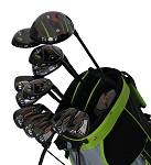 Droc - Nikki Signature Series  *13* Pcs Golf Club Set and Golf Bag 11 - 14 RH (Orange_Black)