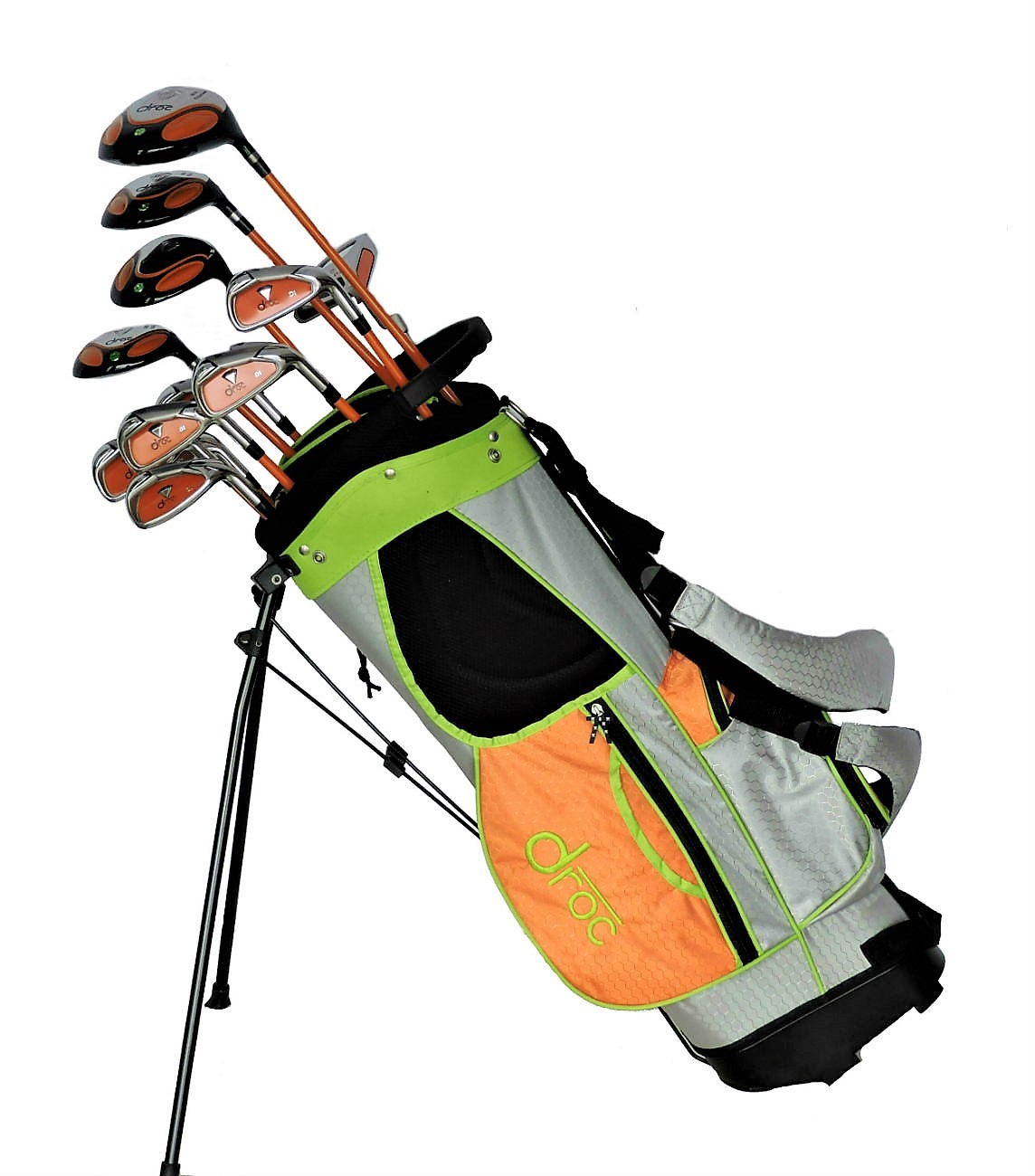 DROC - Dimond Series 13 Pcs Golf Club Set & Golf Bag Age 9 - 12 Right Handed
