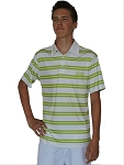 DROC -  White and Lime Stripe Polo