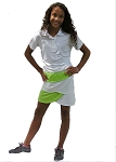 Sephlin - Lady E Modern Style White and Lime Skort