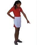 Sephlin - Lady E Women Snow White & Red Mesh Skort