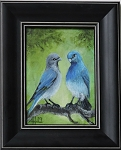 Mountain Bluebird Pair (Original oil Painting) 5