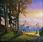 Autumn Tetons ( Print of Original Oil Painting)