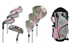 Sephlin - Lady E 7 Pieces Golf Clubs Set and Golf Bag   Girls Ages 3-6