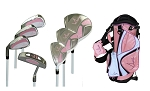 LEFT HANDED - Lady E  7 Pcs Girls Golf Club Set and Bag   3-6