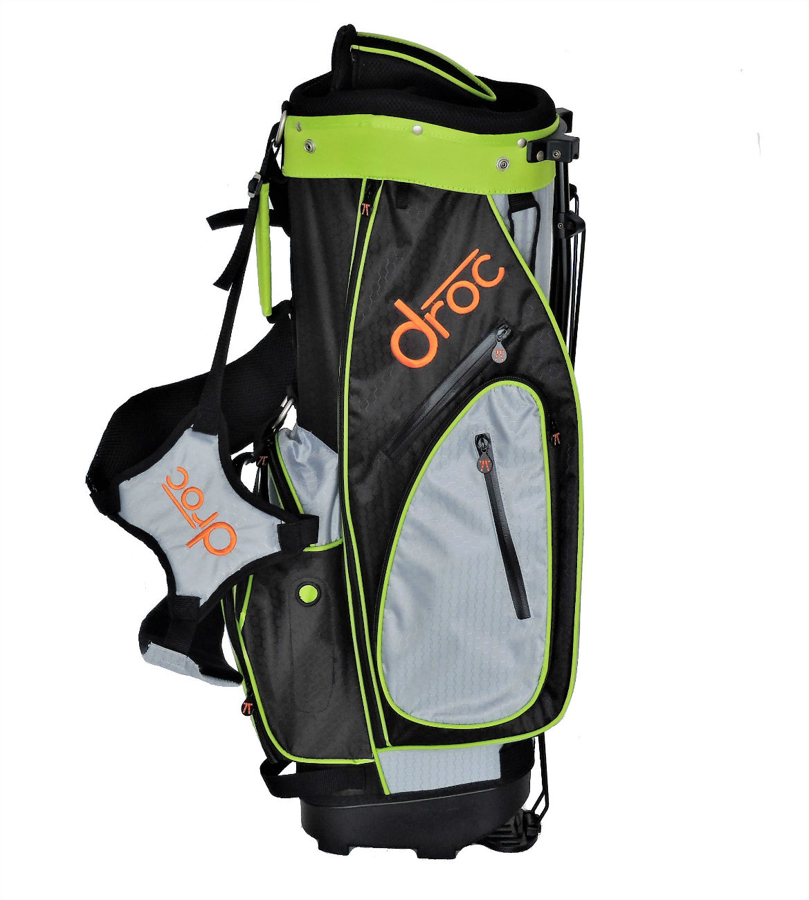 Droc - Dimond Golf Bag Age 11 - 14 (Black_Lime, 32