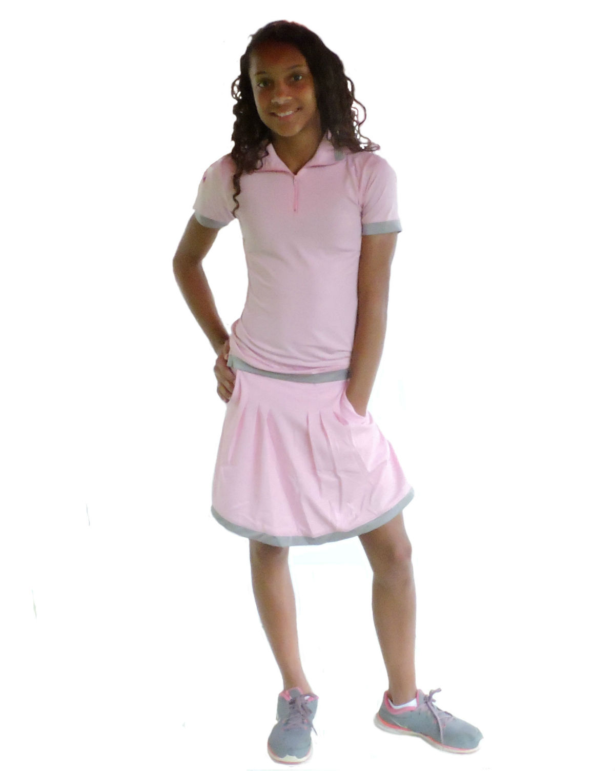 Sephlin - Lady E Dri-Fit Pink Pleated Skort