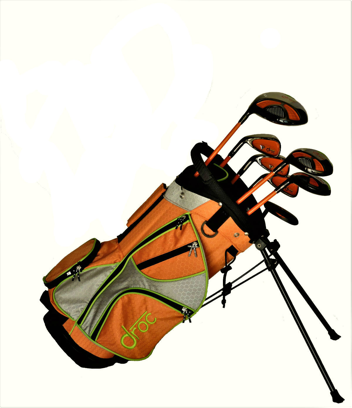 DROC - Mica Series * 7 * Pcs Golf Club Set & Golf Bag Age 3-6 Left Handed