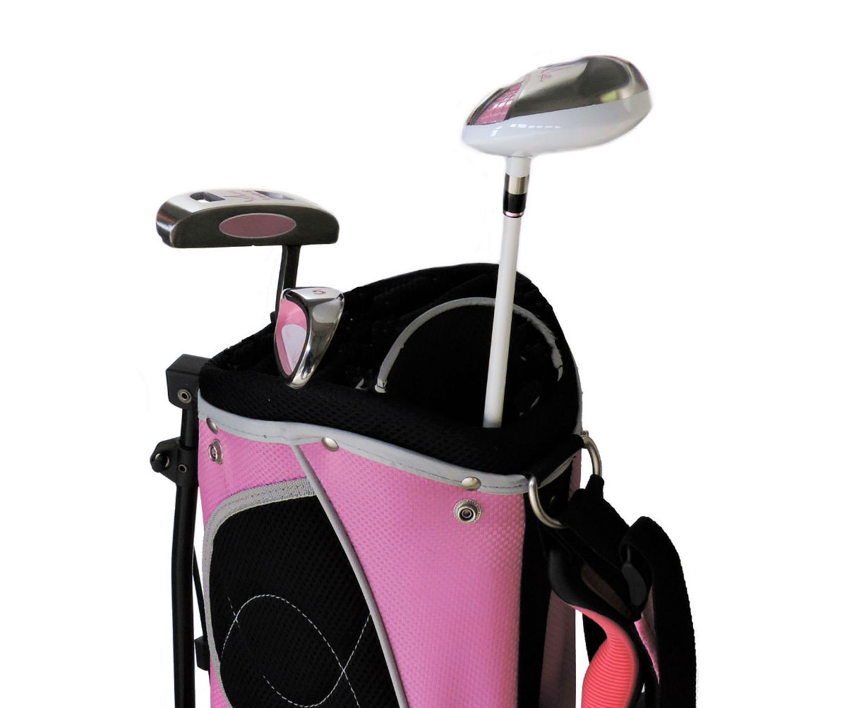 Sephlin - Lady E Girls Pink Golf Set &  Bag *3*  Pcs Club Set Ages 3-6 Left Hand
